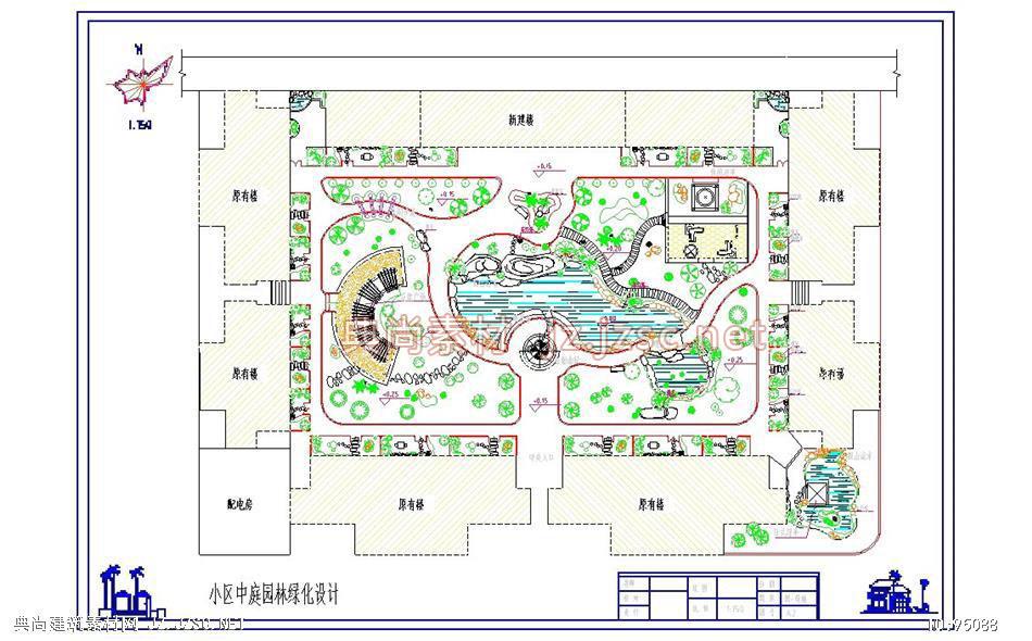 小游园平面图